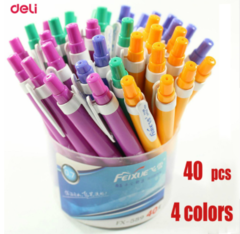 5PCS Deli Ballpoint Pens 0.7mm Press Lovely Snow Creative School Supplies Stationery Gel Pen Cheap