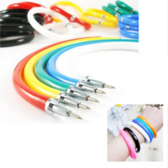 Creative lovely Novelty Flexible Cute Soft Plastic Bangle Bracelet ballpoint pen learning Stationery