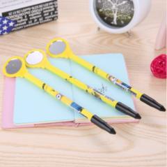 creative cartoon stationery small yellow people mirror mirror cartoon pen stationery monocular