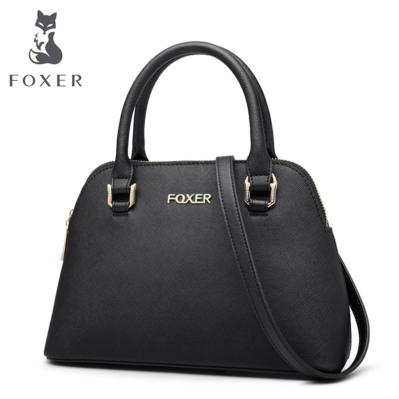 FOXER Brand Women s Leather Handbag Luxury crossbody Bag Women black ... f493da16c8ed0