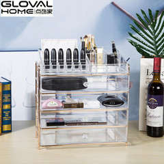 Supply transparent acrylic multilayer drawer type desktop storage box, multi-functional transparent