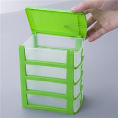 Multi - layer compartment drawer desktop storage box cosmetics toy storage box jewelry green