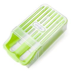 Refrigerator refrigerated drawer sort egg box tilted storage easy to take kitchen storage box green