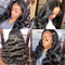 13*6 Deep Part 250 Density Body Wave Lace Front Human Hair Wigs For Black Women black one size