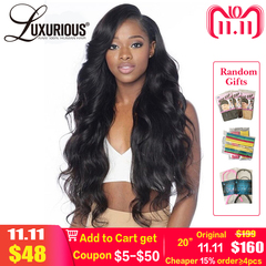 250% Lace Front Human Hair Wigs With Baby Hair Around 8-24Inch Body Wave Thick Lace Wig Bleached black one size