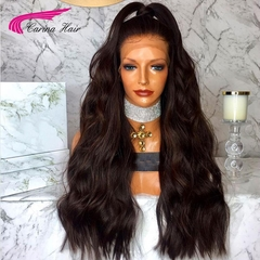 Carina Indian Body Wave Wigs with Pre-plucked Hairline Lace Front Wig with Baby Hair black one size