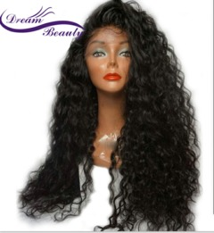 Dream Beauty 250% Density Lace Front Wigs With Baby Hair Remy Pre Plucked Brazilian Human Hair black one size