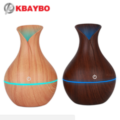 KBAYBO electric humidifier aroma oil diffuser ultrasonic wood air humidifier beige one size