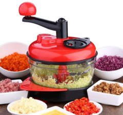 vegetable Food Processor Kitchen Manual Food Chopper Mixer Salad knife Maker red one size