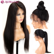 360 Lace Frontal Wig Straight 250 Density Lace Front Human Hair Full End Wigs For Black Women black one size