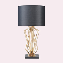 Simple American marble metal creative modeling Table lamps living room bedroom bedside study