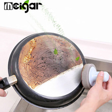 Magic Pan Cleaning Brush Multi-Functional Handheld Sink Dish Scrubber Cleaner Kitchen white one size