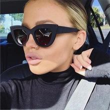2018 New Cat Eye Women Sunglasses Tinted Color Lens Men Vintage Shaped Sun Glasses Female Eyewear