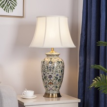 Famile rose bedroom bedside table ceramic table lamps for home