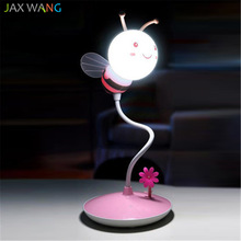 JW_table Lamp Bee Remote Adjustable Night Lights Creative Energy Saving Bedroom Bedside Lamps