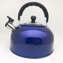 3L Stainless Steel Water Kettle Induction Cooker Camping Kettles Stove Whistling Water blue