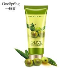 OneSpring Olive Facial Cleanser Rich Foaming Facial Cleansing Moisturizing Oil Control Face Skin green