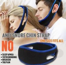 Anti Snore Chin Strap Stop Snoring Snore Belt Sleep Apnea Chin Support Straps Face Slim Health blue