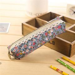 Mini Retro Flower Floral Lace Pencil Case, Pencil Bag School Supplies Cosmetic Makeup Bag Zipper 2