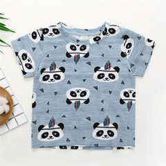 Summer Baby Girl Tops And Tees Toddler Kids Baby Boys Girls Short Sleeve Cartoon Panda Tops 1 80cm cotton