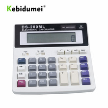 kebidumei Big Buttons Office Calculator Large Computer Keys Muti-function Computer Battery