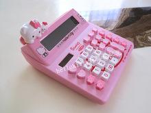 Hello kitty cartoon solar calculator pink KT cat doll cute computer KT-520A