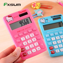 Cartoon Hello Kitty Mini Calculator Portable for Student Handheld Stationery Pocket Calculator
