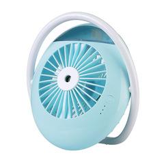 New round beauty spray fan office Mini humidifier small fan
