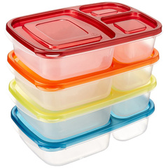 Plastic Lunch Box Rectangle Shape Meal Prep Microwave Oven Bento Box Food Container Storage Box yellow 1 layer