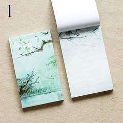 Creative Grid Lined Chinese Vintage Retro Notespad Mini Pocket Planner Journal Diary Notebooks 1 one size