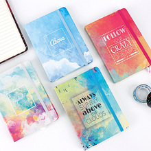 10.5*7.5cm Ink Color Daily Office Supplies Week Planner Spiral Notebooks Day  Diary Notepads Meno random middle