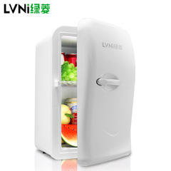 17L Car Refrigerator Vehicle Dual Use Refrigerator Small Mini Dormitory Single Door Small white