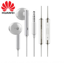 Genuine Original HUAWEI Honor Earphone Metal Earpiece + Mic Volume Control For P9 Lite P10 Plus white