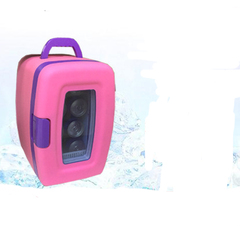 Car with 4 l car refrigerator refrigeration mini refrigerator car home pink