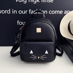 Women Cat School Bags for Teenage Girls Bags Children Backpack Bag Hot Sale Cat Printing 1