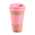Halolum 330mL Creative Wheat Straw Coffee Tea Mug Cups Reusable Water Bottle (Blue) pink one size
