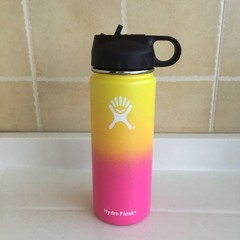 Brand Drinkware 32oz/40oz Hydro Flask Water Bottle Stainless Steel Insulated Wide Mouth Travel yellow 400z
