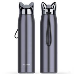 100% brand new and high quality Hot Sports Water Bottle Cool Lightning Fox Stainless Steel Cup black one size