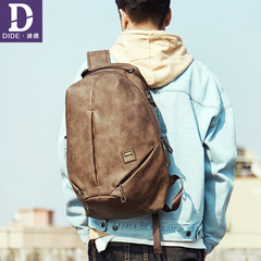 DIDE USB charging 15.6 inch Laptop Backpacks For School Bag Male Mochila Vintage Casual Leather 1