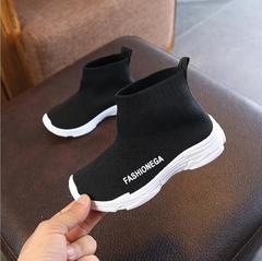 Solid color children's socks shoes 2018 spring autumn fashion casual kids sneakers boys and girls black 13cm