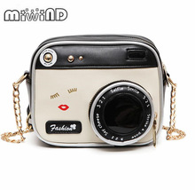 MIWIND Small bags 2018 girl vintage fashion lady camera shoulder bag women handbag chain picture one size