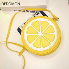 2018 Circular Orange Lemon Women Bag Zipper Messenger Bags Crossbody Waterproof Handbags Brand picture one size