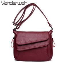 7 Colors Leather Luxury Handbags Women Bags Designer Women Messenger Bags Summer Bag Woman Bags red one size