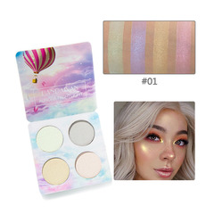 4 Colors Luminous Eyeshadow Pallete Chameleon Glitter Eye Shadow Powder Brighten Pigment Makeup type1