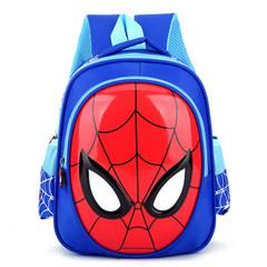 2018 3D 3-6 Year Old School Bags For Boys Waterproof Backpacks Child Spiderman Book blue