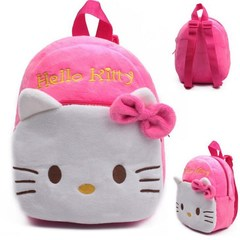 1-3Y Plush Cartoon Hello Kitty School Bag For Girl Kindergarten M Minnie Schoolbag Cute 2