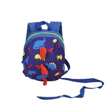 Safety Fashion Backpack Anti-lost Band Kids Children Kindergarten School Bags blue