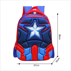 Hot High Quality EVA 3D Captain America children school bags Boy Spiderman school Backpack 1
