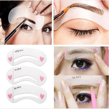 New Fashion Shaper Sale 3pcs Eyebrow Shape Stencils Grooming Kit Makeup Tool DIY Beauty Eyebrow picture