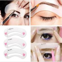 New Fashion Shaper Sale 3pcs Eyebrow Shape Stencils Grooming Kit Makeup Tool DIY Beauty Eyebrow picture